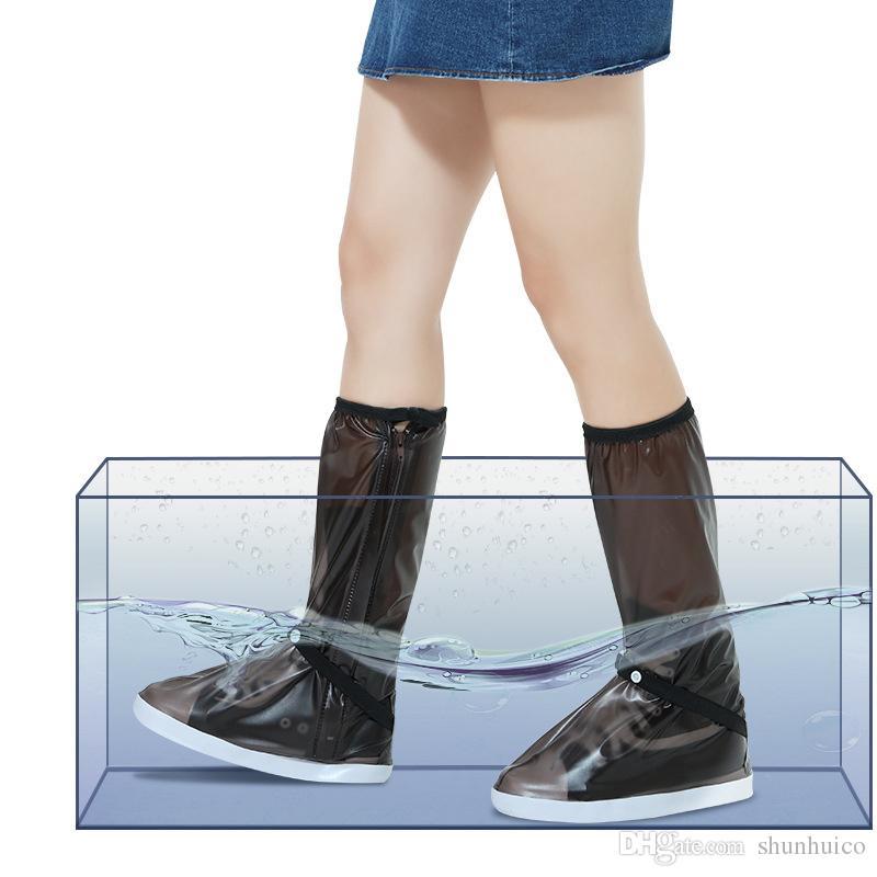 e0e43ab22c Compre Botas De Lluvia Altas Cubre Zapatos Cubiertas Impermeables De  Plástico Para Zapatos De Lluvia Para Días De Lluvia A $4.27 Del Shunhuico    DHgate.Com