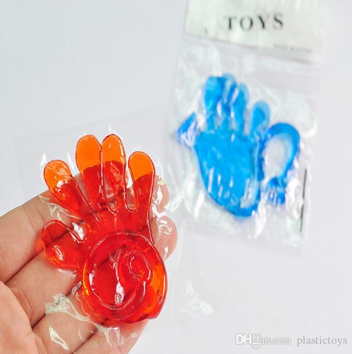 Nostálgico clásico Kids Party Supply Favors Mini Sticky Jelly Stick Slap Squishy Hands Toy XT colores mezclados