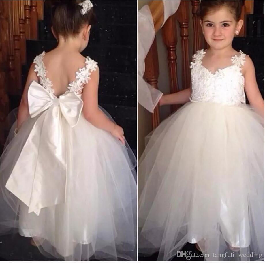 Encantadores vestidos de niñas para las bodas Vestidos de dama de honor para niñas WY069