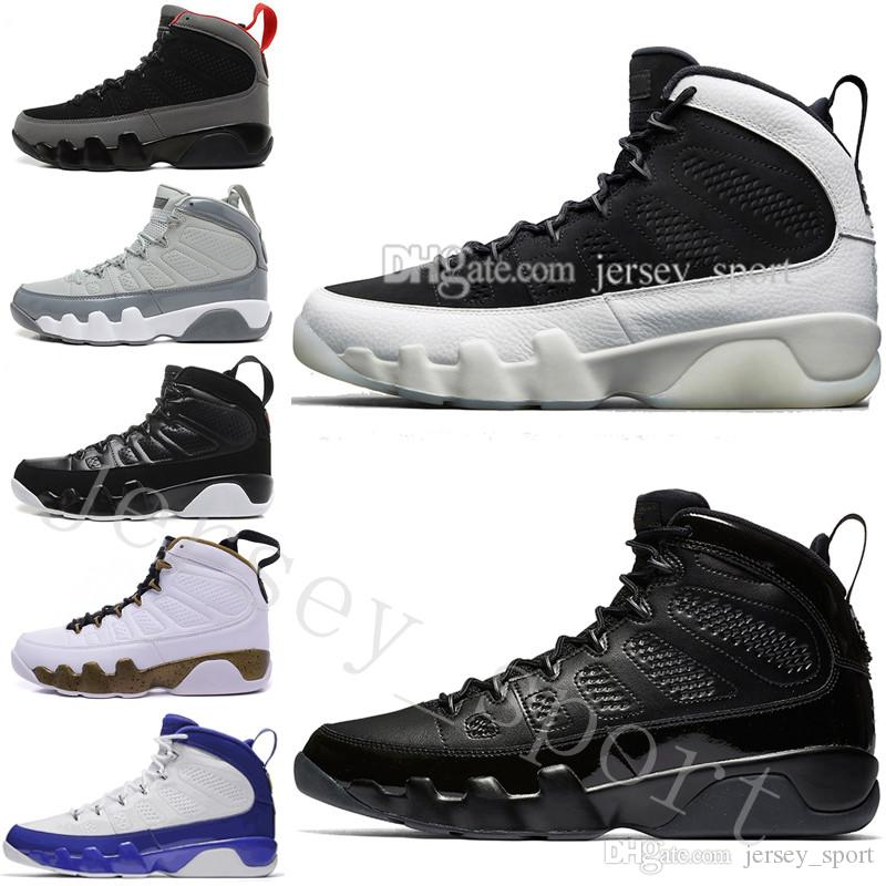 5ac693974964 2019 9 9s Mens Basketball Shoes LA Bredred OG Space Jam Anthracite Lakers  PE The Spirit Cool Grey Black White 2010 Release All Black Sports Sneak  From ...