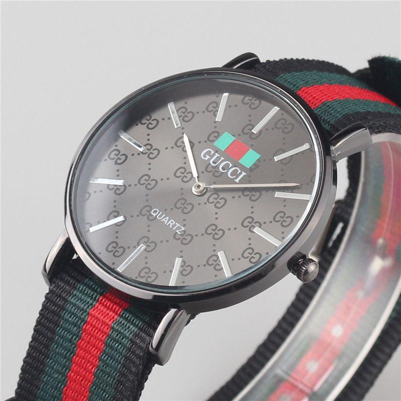 Man New Black 40MM Nylon Quartz Watches Men Casual Fashion Sports ... c4f5c60289