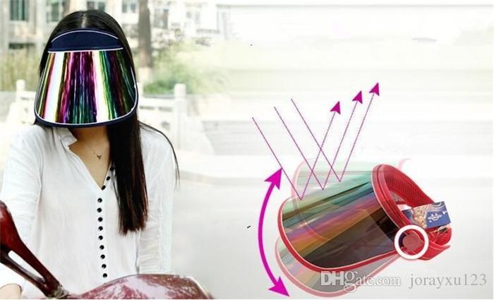 자동차 자외선 차단 모자 PC 태양 모자 다채로운 썬 바이저 J073을 타고 다채로운 보드