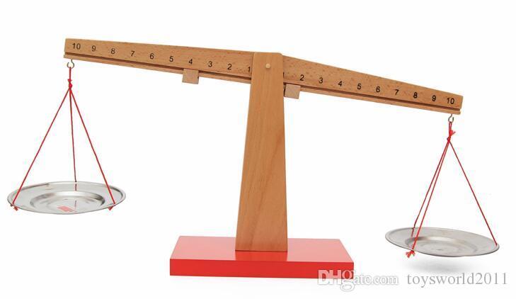 Монтессори Деревянные Весы Весы Детский Сад Дошкольное Учебное Пособие Математические Игрушки