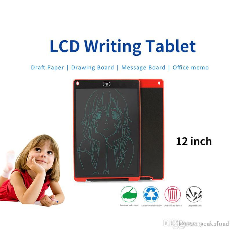 """12/"""" Kids LCD Writing Tablet DIY Drawing Graphics Board Memo Pad With Stylus Pen"""