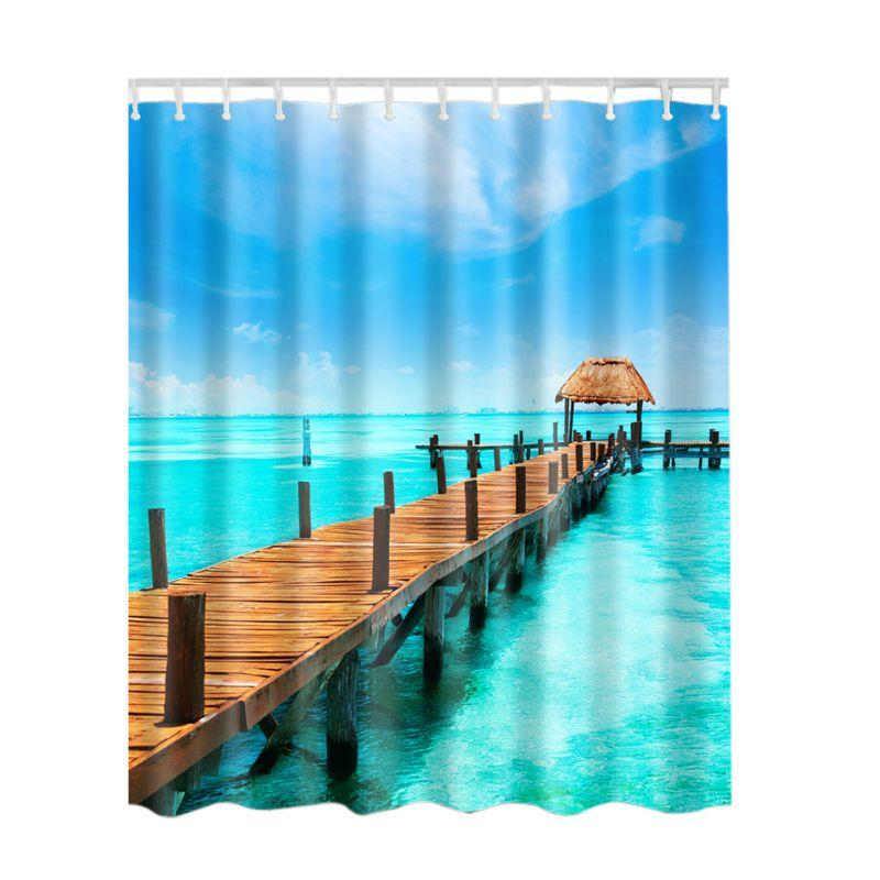 Cheap Wholesale Polyester Shower Curtain Best Led Curtains