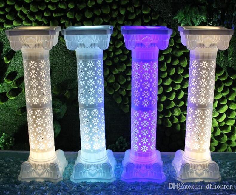 Hollow Pillar Çiçek Tasarım Roma Sütunlar Beyaz Renk Plastik Sütunlar Yol Atılan Düğün Sahne Olay Dekorasyon Malzemeleri WT075