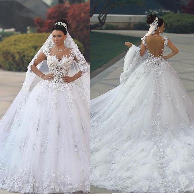 Vestido De Noiva 2018 Princess Wedding Dress Ball Gown Off: 2018 Luxury Princess Ball Gown Wedding Dresses Vestido De