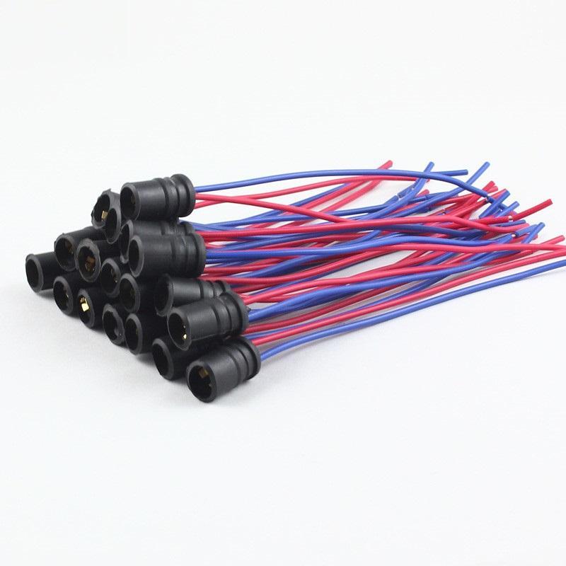 T10 soket tutucu W5W 168 194 t15 Araba Oto Kamyon Işık Enstrüman LED Ampul Konektörü adaptörü tel kablo