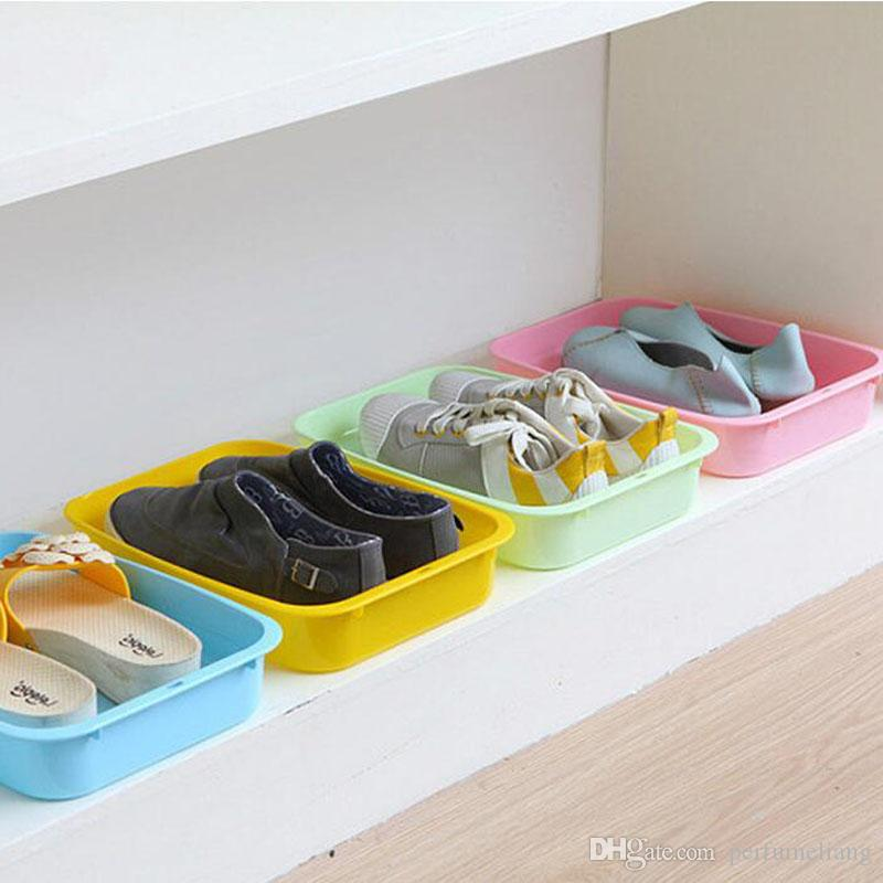 2018 Creative Shoe Box Case Plastic Square Storage Boxes U0026 Bins Sundries  Container Stackable Shoes Organizer Qw7860 From Perfumeliang, $228.19 |  Dhgate.Com
