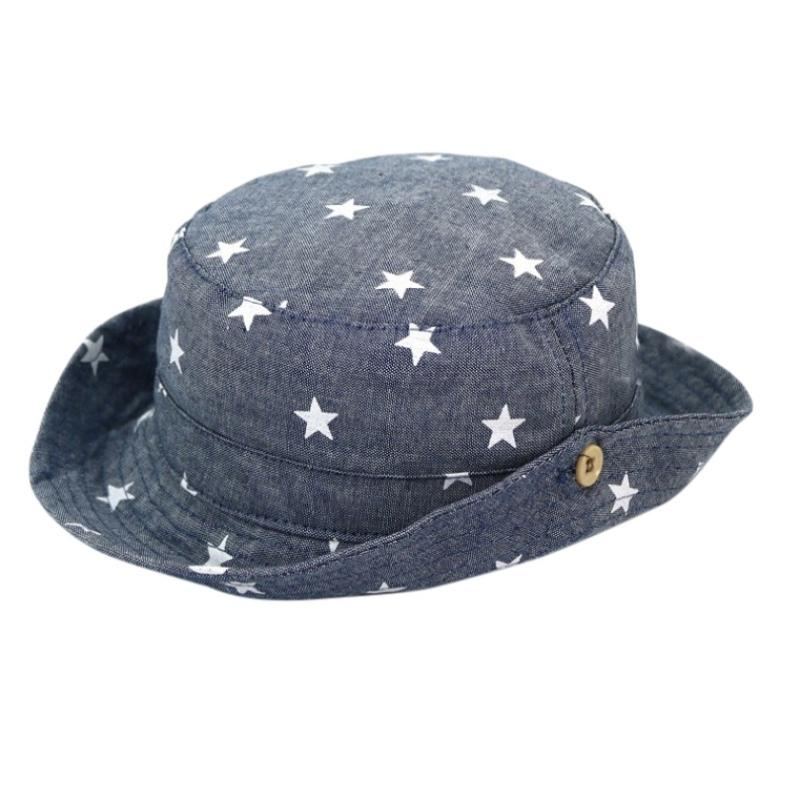 2019 Summer Cute Toddlers Sun Hat Star Printed Bucket Cap Hats Children  Caps Shade Sunshine From Shseller 1feb456dd2c
