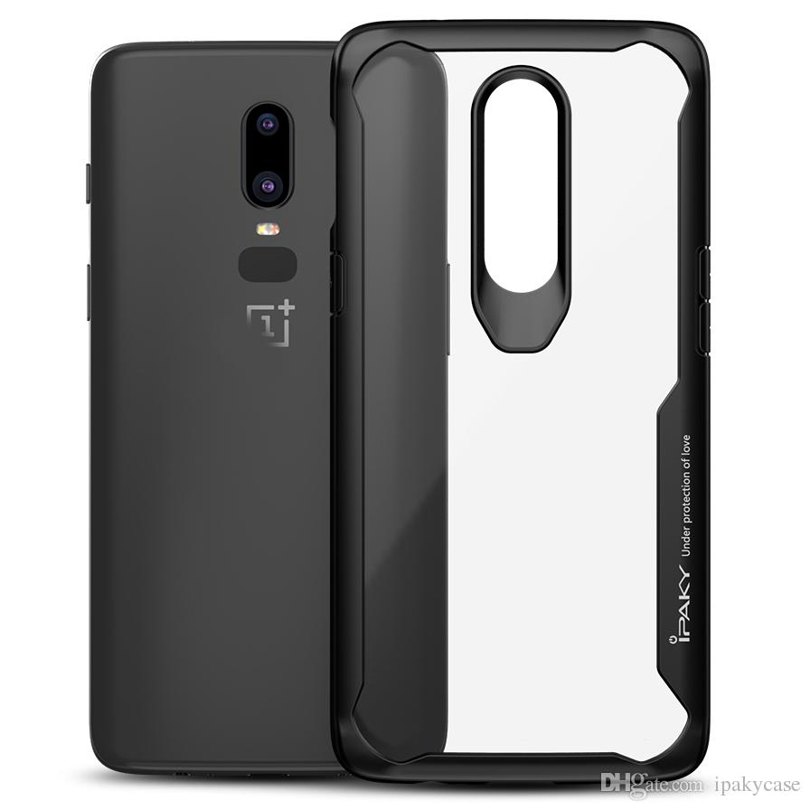 new arrival 4754c ecb12 iPaky Oneplus 6 Transparent Case 1 6 Armor Drop-proof Shockproof Airbag  Back Cover PC TPU Oneplus Six Cases With Retail Package In Stock