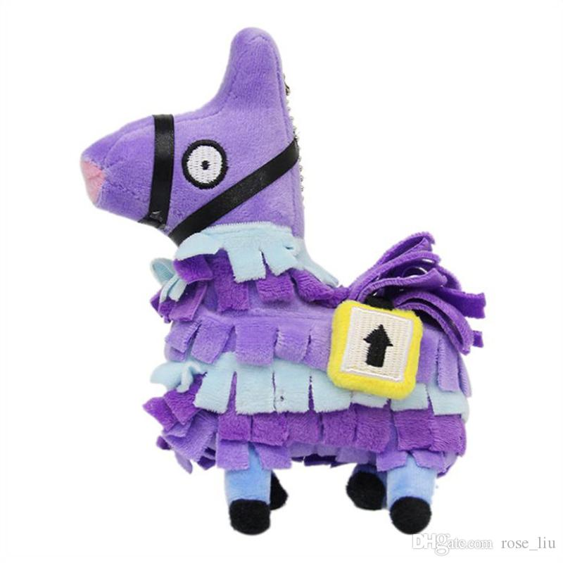 Small size 15CM(6inch) Fortnite plush dolls Stash Llama Figure Soft Stuffed Horse Animal Cartoon Toys Action Figure Toys Kids Gift pendant B