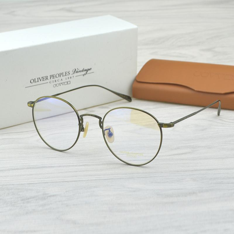 29e414007b0 Retro Pure Titanium Eyeglasses Oliver Brand OV1174 Optical Glasses Frame  For Women Men Prescription Frame Eyewear Original Case Cool Eyeglass Frames  Eye ...