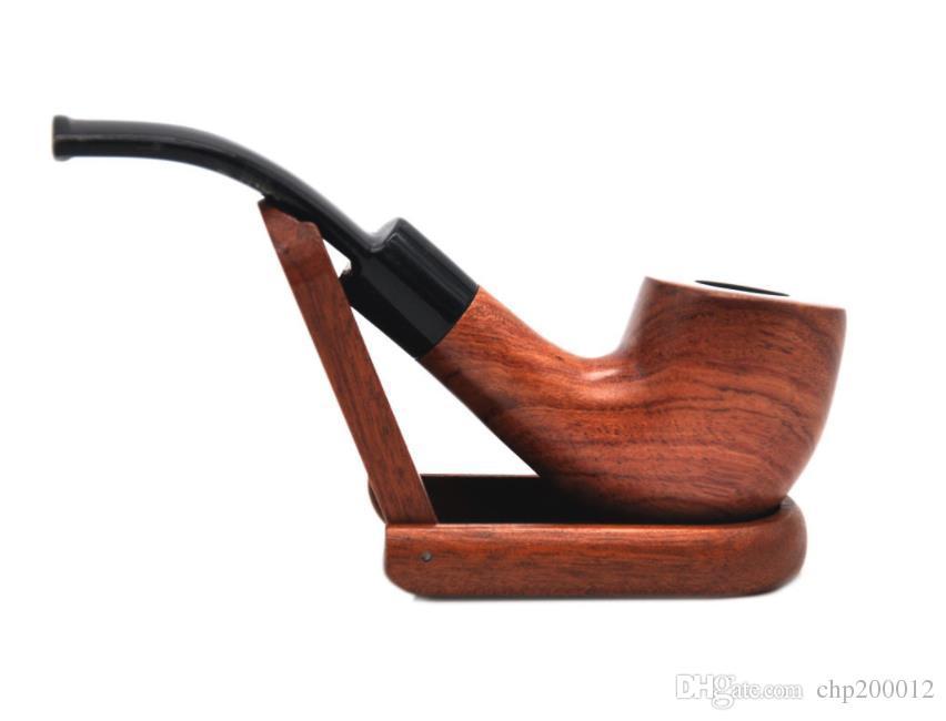 Nueva tubería de caoba creativa, conjunto de fumar sándalo, tubo portátil portátil para hombres