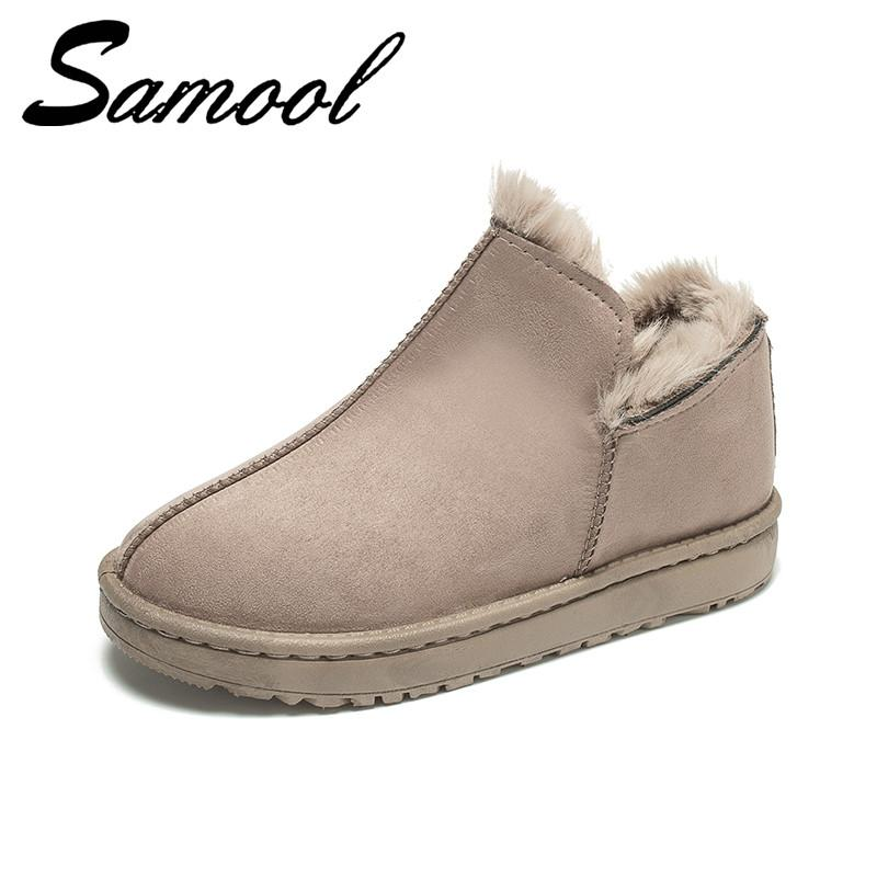Winter Shoes Women Snow Boots Platform Warm Schuhe Damen Classic