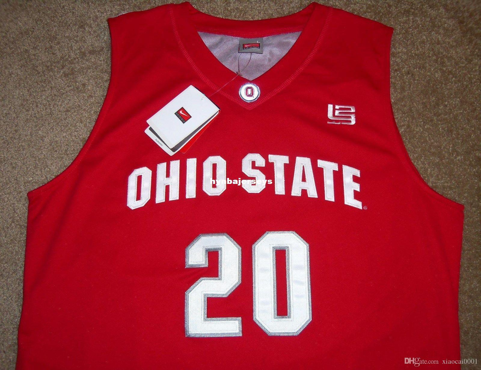 reputable site 521c4 8ae75 NEW #20 GREG ODEN OHIO STATE BUCKEYES LBJ Nk ELITE JERSEY L 2 SEWN (NWT)  Mens Vest Top Size XS-6XL Stitched basketball Jerseys