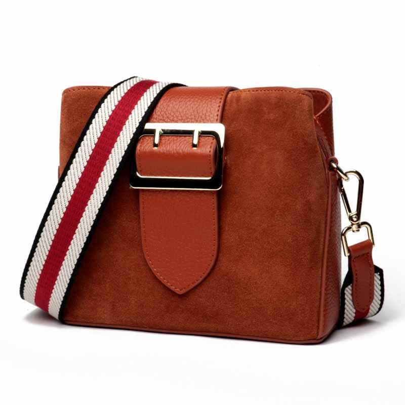 2f00fe7c462d 2018 Genuine Leather Messenger Bag Vintage Ladies Handbags Women ...