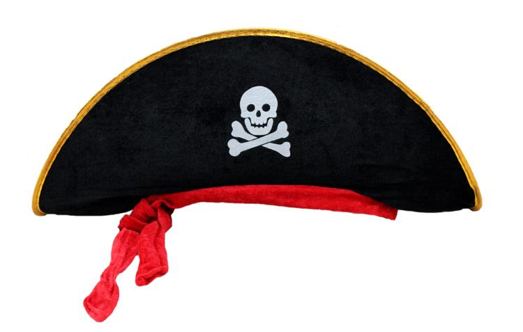 Halloween Accessories Skull Hat Caribbean Pirate Hat Skull