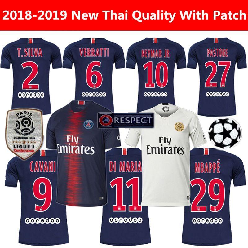 782f51a38 2019 18 19 FC Paris Saint Germain Jersey PSG Soccer Jersey 7 MBAPPE 9  CAVANI 6 VERRATTI 11 DI MARIA SILVA Football Shirt Kits From Hlcfly, $14.22  | DHgate.