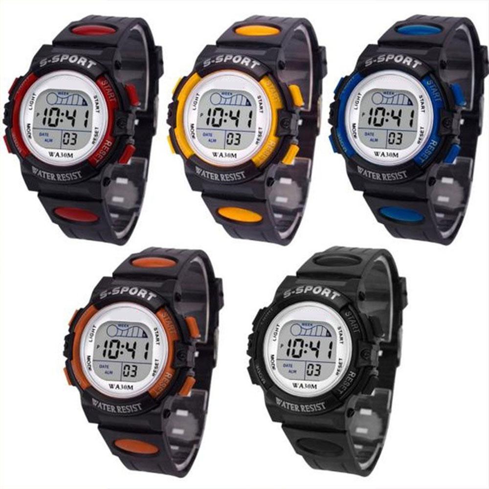 3bc94674f Amzdeal Multifunction Chidren Digital Watches Boys Girls Child Rubber Sports  Electronic Wrist Watch Kids LED Date Clock Smart Watches Women Smartwatch  ...