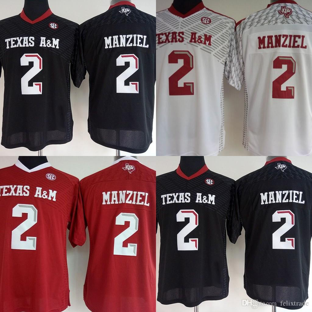 finest selection d0be2 e8aaf Womens Texas A&M Aggies College Jerseys #2 Johnny Manziel Red white black  College Football Jerseys