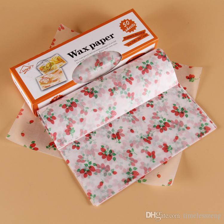 Food Grade Candy Wax Rivestimenti in carta oleata hamburger pane Candy Oilproof Wrap Wrap fai da te compleanno festa nuziale carta da forno