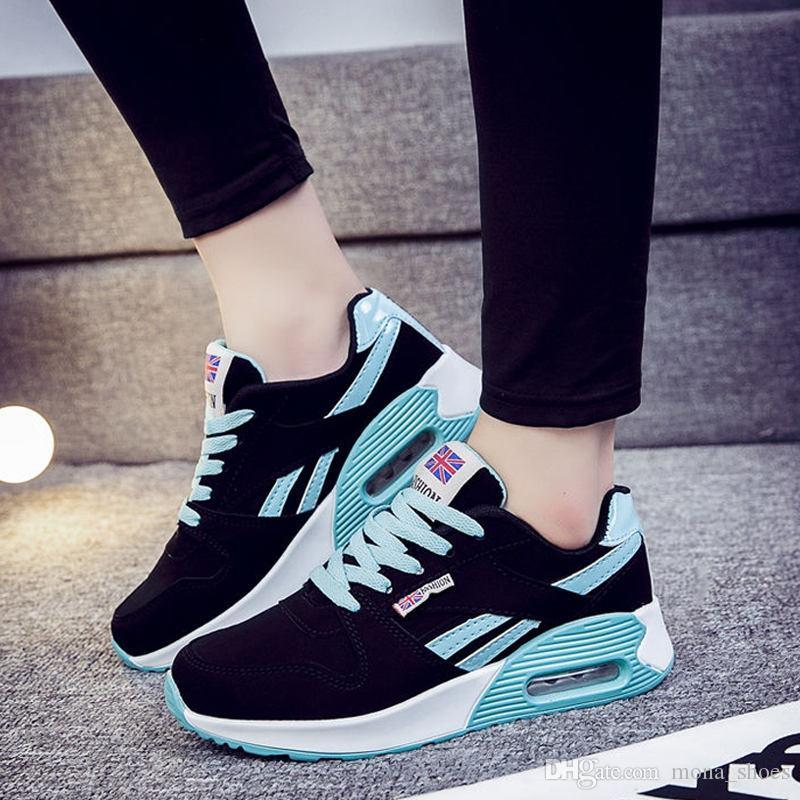 a0abfd0bd4 Women Fashion Korean Women Shoes Tenis Feminino Casual Shoes Outdoor  Walking Shoes Sneakers Women Flats Pink Shoes Online Basketball Shoes From  Mona shoes