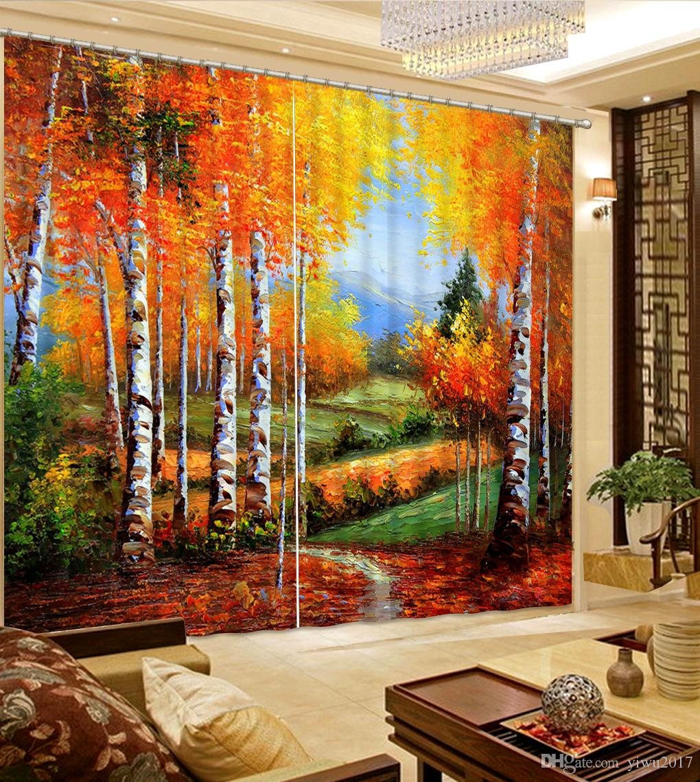 Window Curtain Oil painting European Curtains For Living room Fashion Decor Home Decoration For Bedroom Blackout