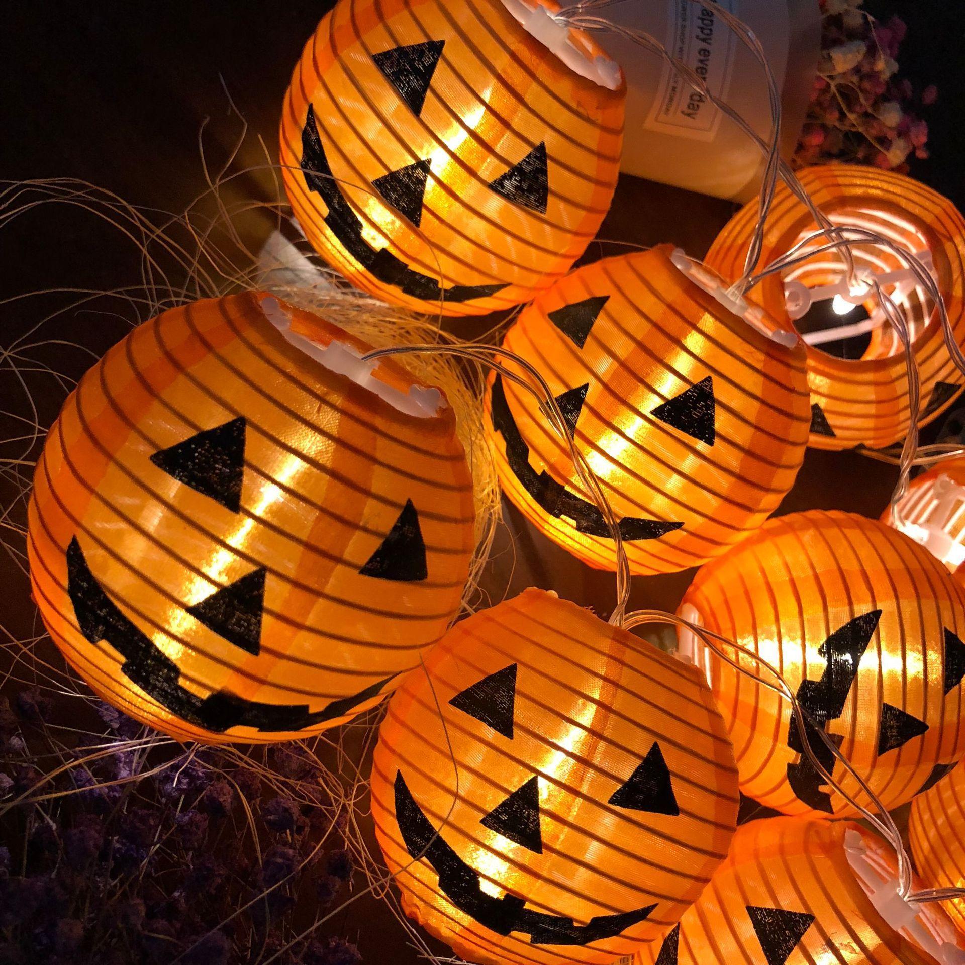Sporting 10 Led String Light Pumpkin Lights Skull Halloween Decoration Fairy Lights Party Prop Lanterns Festival Event Garden Colorful Lights & Lighting