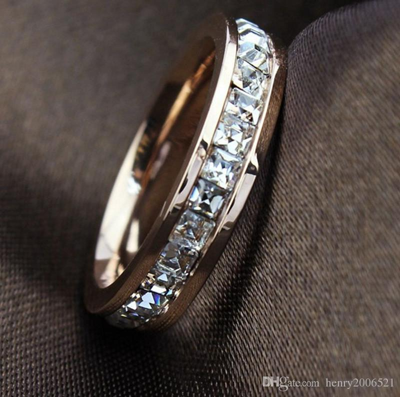 Genuine 18K Rose Gold Filled 9 ct simulated diamond Ring size 8 9