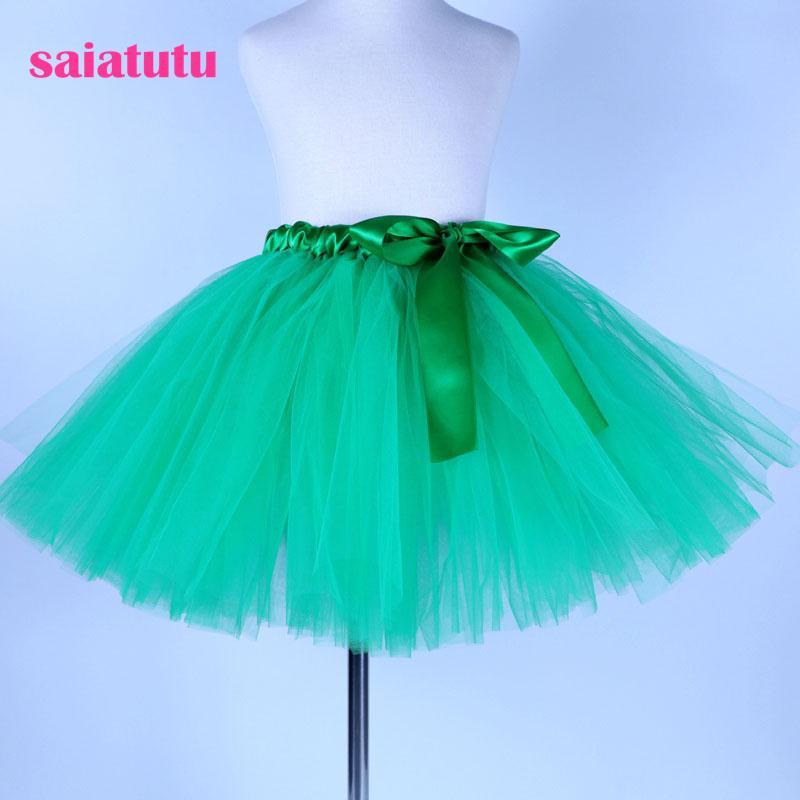 cd7712cb0 2018 NUEVA tul verde niño de los niños del bebé traje de baile vestido de  fiesta de la boda de la boda corta pettiskirt tutú niña niños falda ...