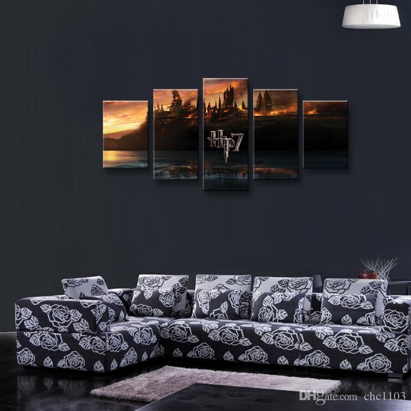 HD Printed canvas Harry Potter School Castle Hogwarts Painting room decor posters and prints art HL-002