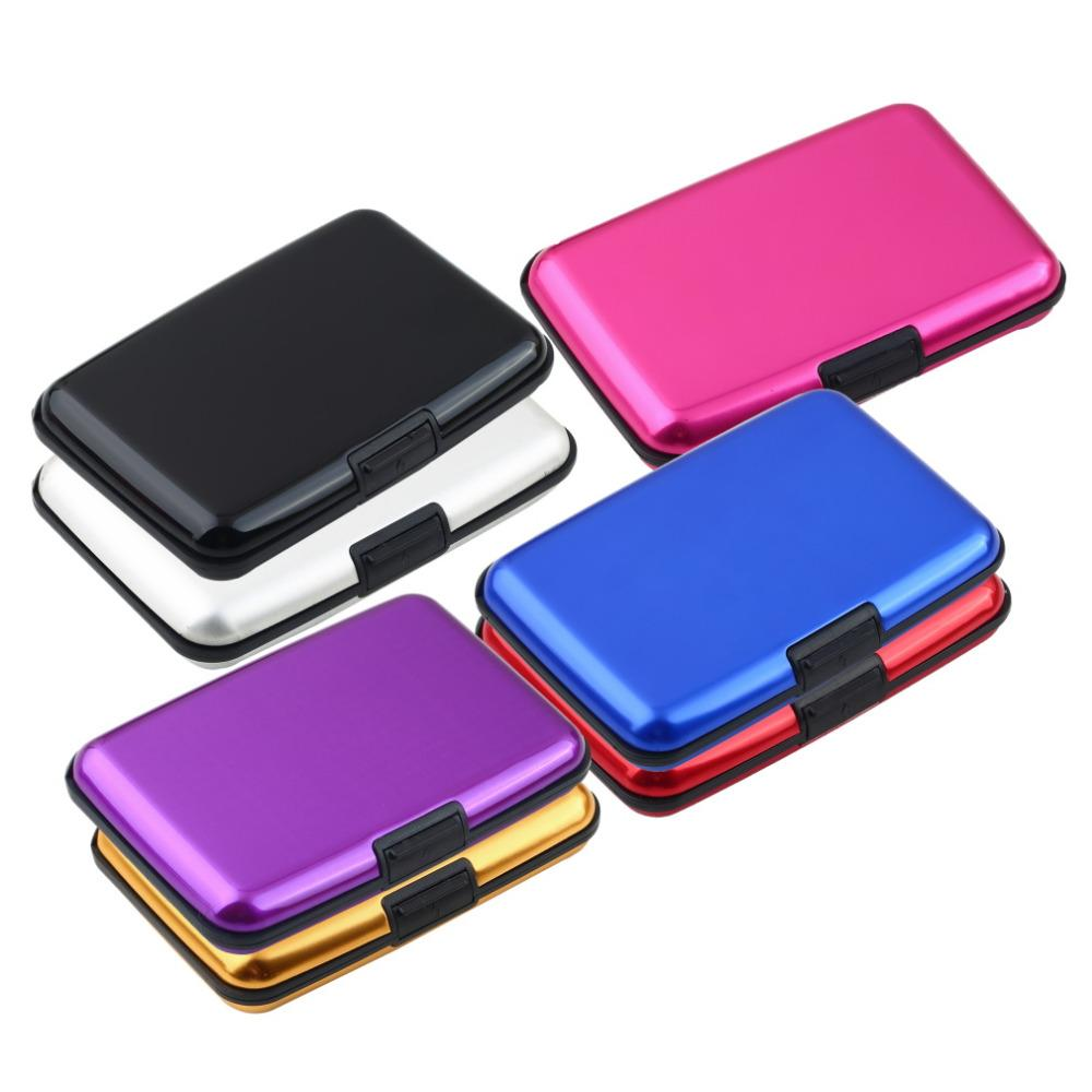 1pcs Waterproof Business ID  Wallet Holder Aluminum Metal Case Glossy Box 2017 popular Worldwide sale