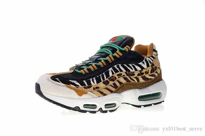 04874246c6512 Compre 2018 Diseñador De Moda Atmos X 95 DLX Zapatillas De Deporte De  Calidad AAA + Sneakers Animal Pack 2.0 Leopard Grain Zebra Mane Hombres  Mujeres ...