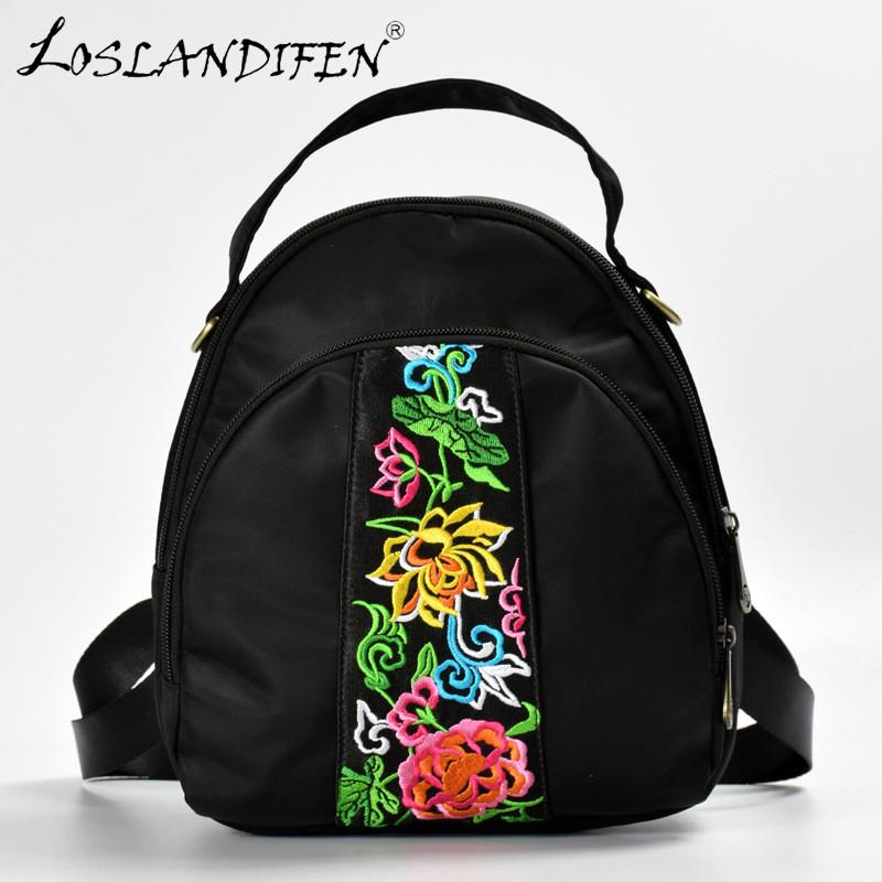 2241fb386a 2018 New Chinese Style Embroidered Bag National Embroidery Oxford Small  Backpack Double Zipper Embroider Women Bags Rolling Backpack Toddler  Backpacks From ...