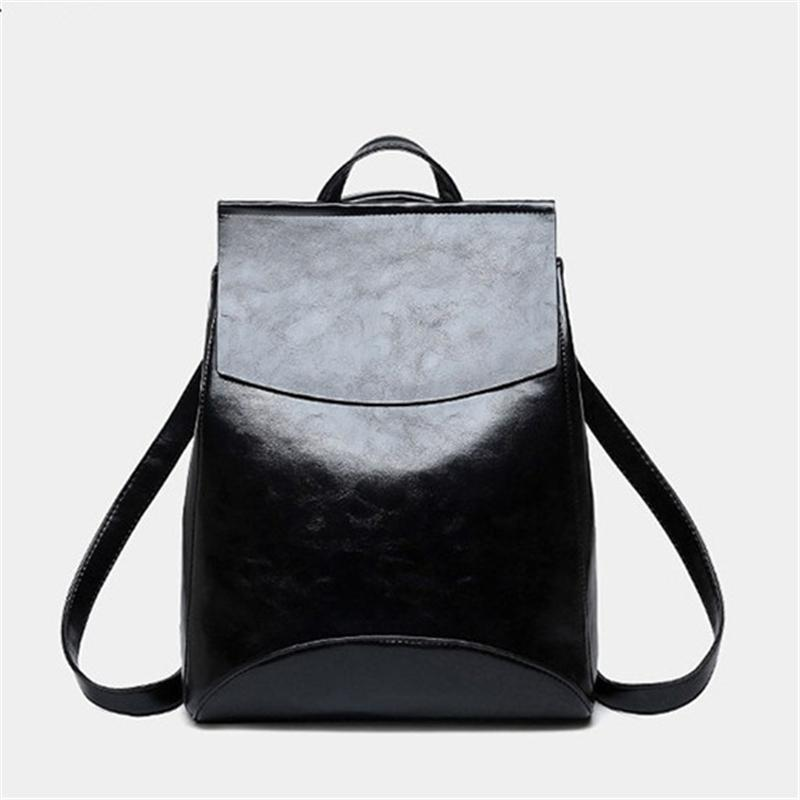 971d6a95e6c4 Fashion Women Backpack High Quality Leather Backpacks for Teenage ...