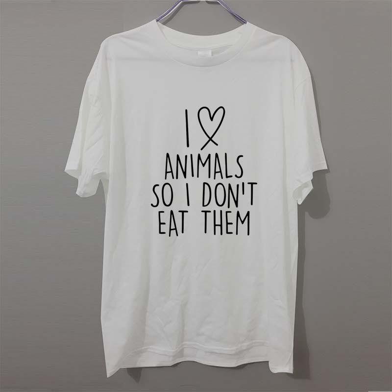 f93680ec1 I Love Animals So I Don' ; T Eat Them Vegetarian Vegan Pet New Print T Shirt  Mens Short Sleeve Funny T Shirt Men Joker Tshirt Shirt With T Shirt Buy  Funny ...