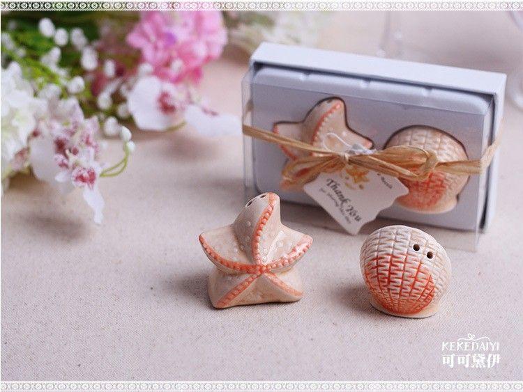 2019 Wedding Favors Wholesale Beach Style Seashell And Starfish Salt