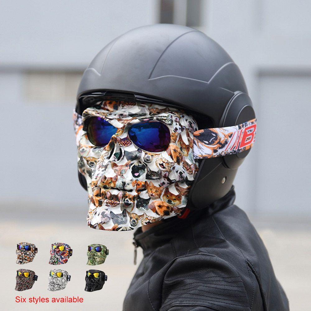 Motorcycle Goggles Helmet Mask Outdoor Riding Motocross Skulls