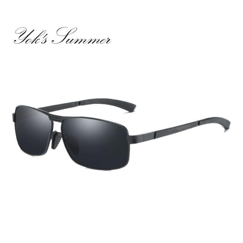 2caaaa93c1 Yok S Classic Men S Polarized Sunglasses Classic Military Alloy Full Frame  Rectangle Sun Glasses Men Driving Black Coating Gafas HL123 Cheap  Eyeglasses ...