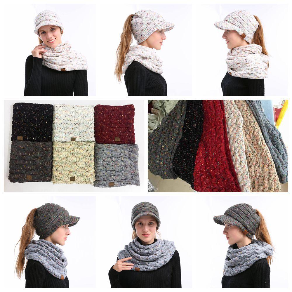 Großhandel 6 Stile Cc Strickschal Frauen Winter Wolle Gestrickter