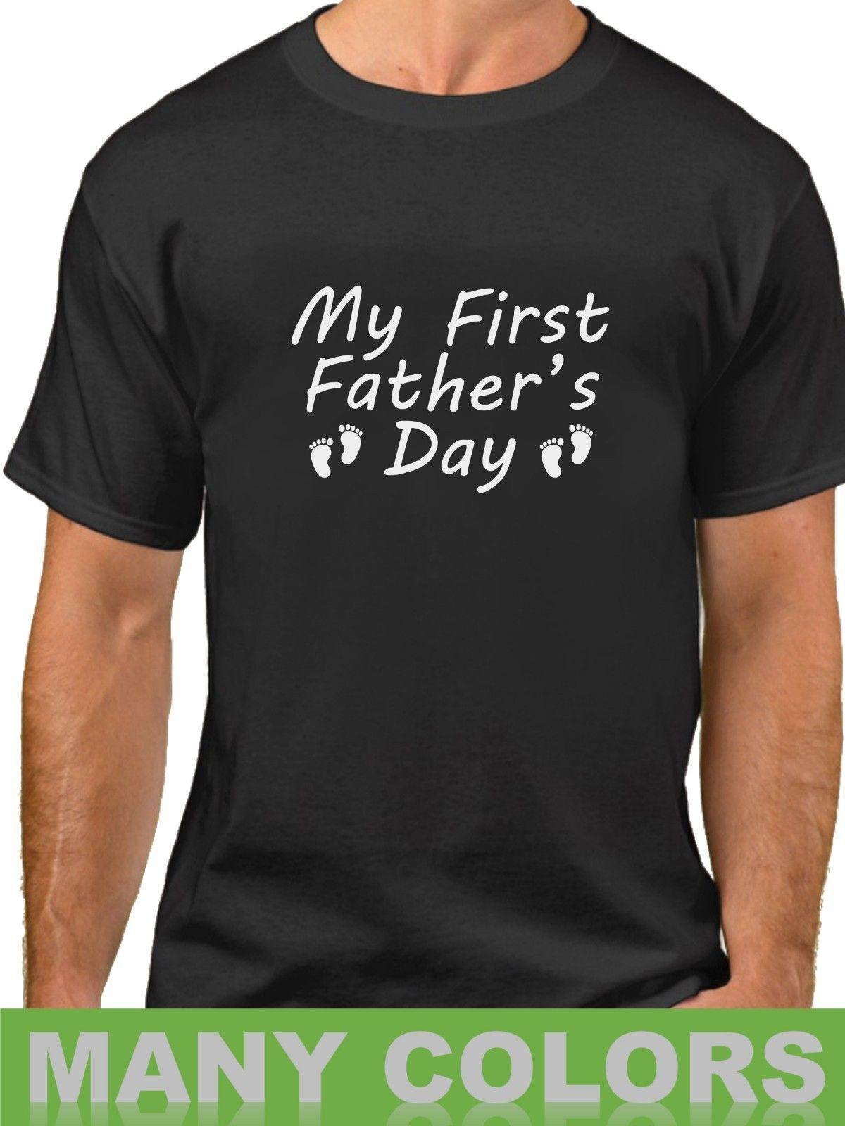 6209b086 Details zu My First Father's Day Shirt 1st Fathers Day Gift Daddy Pregnancy  Announcement Funny free shipping Unisex tee