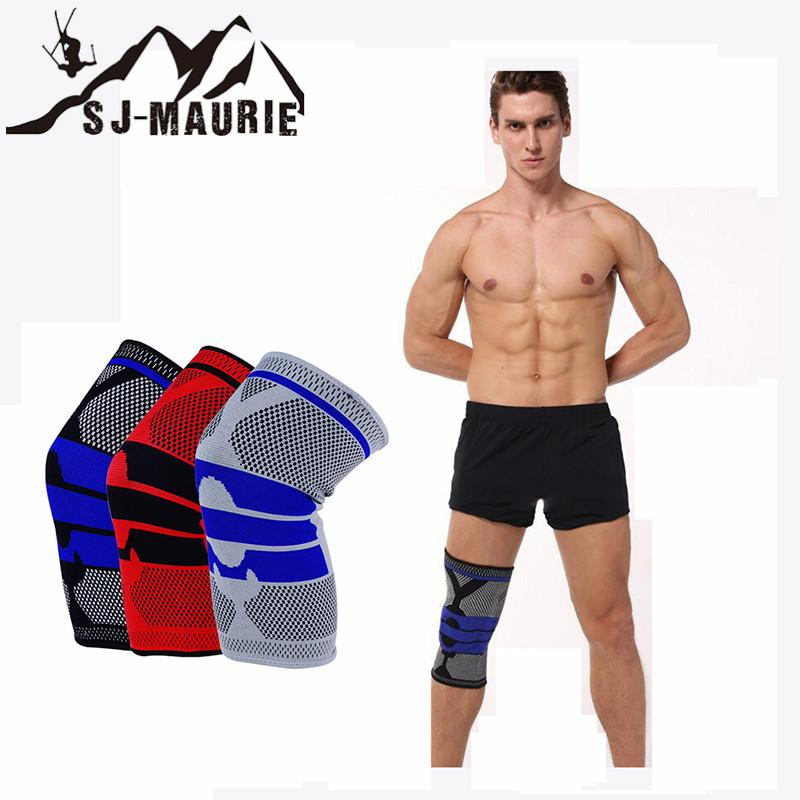 1 Pcs Fitness Running Knee Support Protect Gym Sport Braces Knee Pad Elastic Nylon Silicon Padded for Cycling Climbing