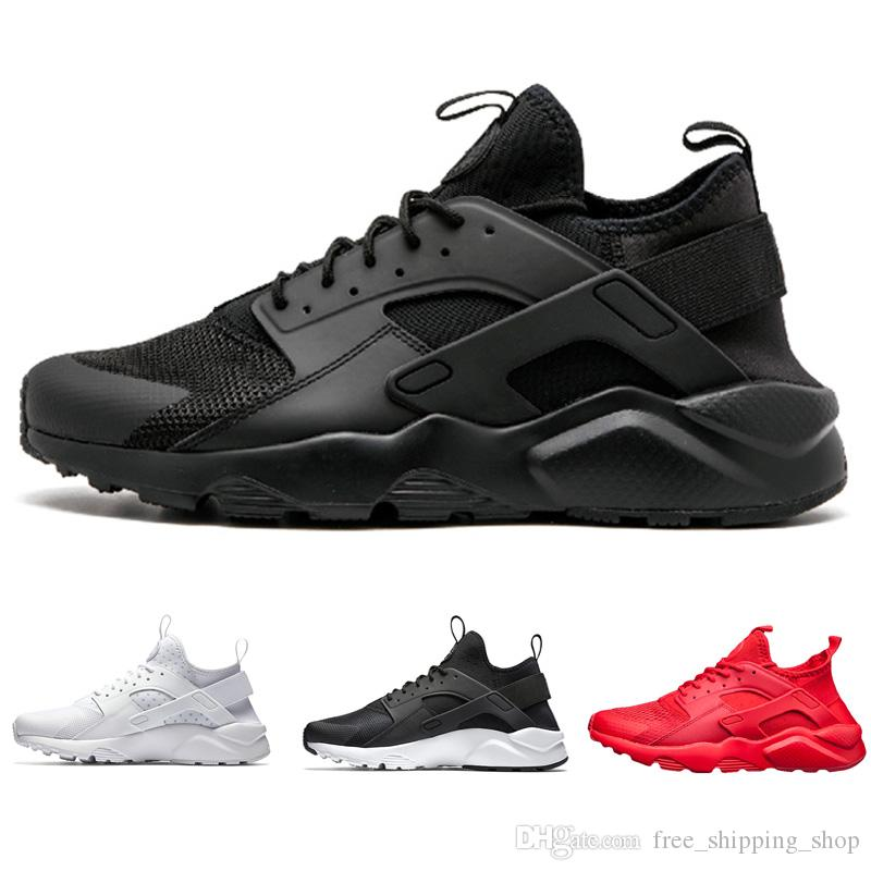 new styles db13b 3486e Acheter 4.0 Triple Noir Huarache Ultra Run Chaussures Pour Hommes .