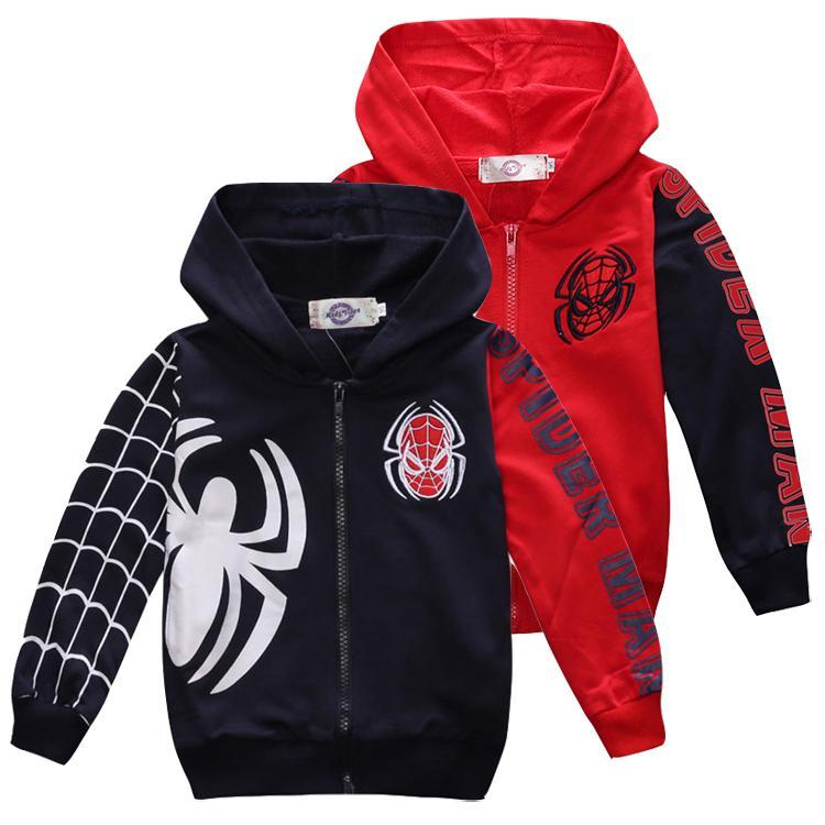 7fa4eab9e Spider Kids Hoodie Jackets 18M~7 Years Old Kids Zipper Hoodie ...