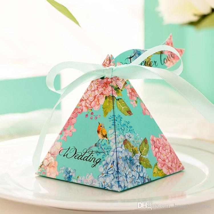 Diy Craft Something Blue Forest Pyramid Shaped Candy Gift Boxes