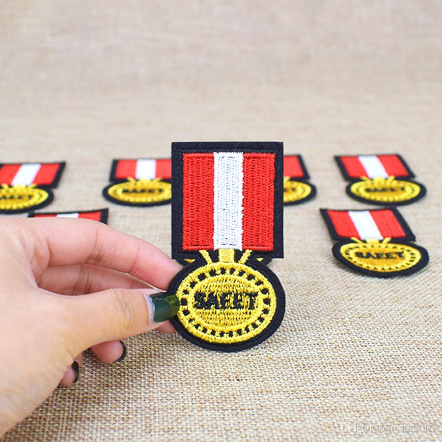 SEAAT Badge Patches for Clothing Bags Iron on Transfer Applique Patch for Jacket Jeans DIY Kids Sew on Embroidered Sticker