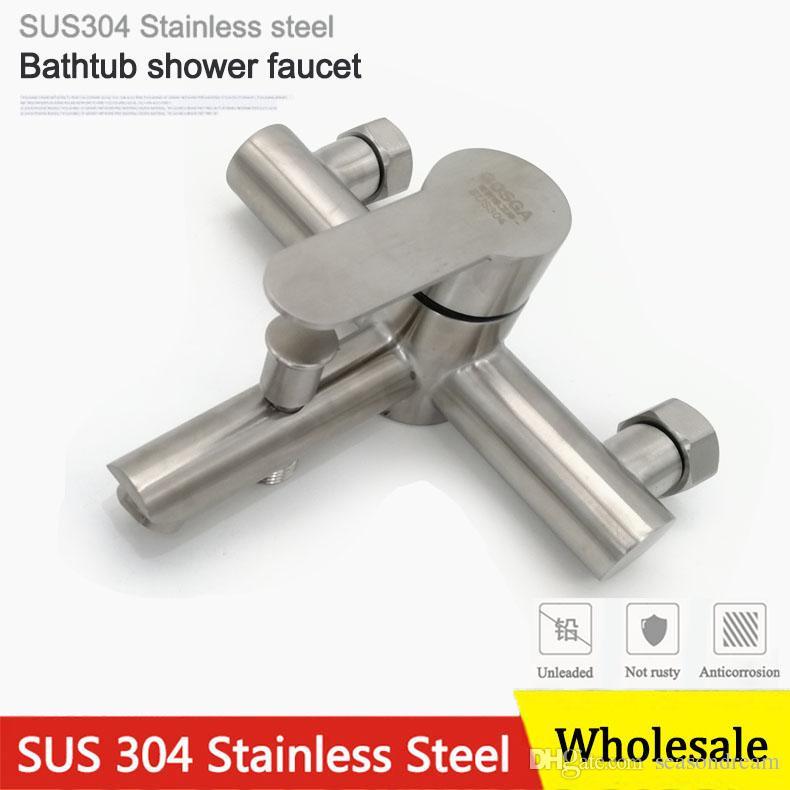2018 Wholesale Fashion Bathroom Bathtub Shower Double Outlet Faucet ...