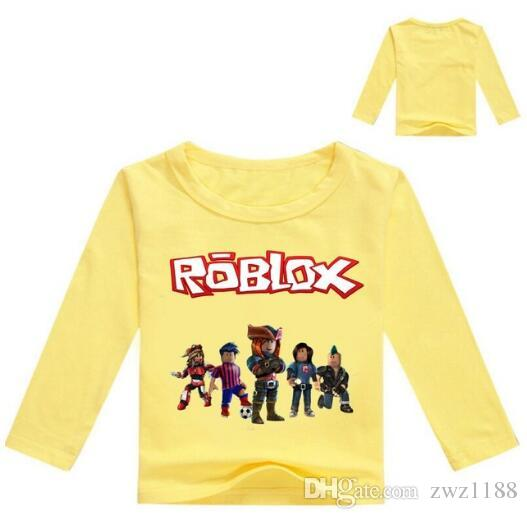 2018 Kids Long Sleeve T Shirt For Boys Roblox Costume For Baby Cotton Tees Children Clothing School Shirt Boys Blouse Tops - roblox motorcycle shirt green