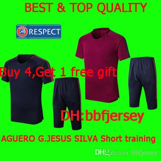 79f8b53748c3 Thailand Premier League Soccer Jersey 17 18playe KUN AGUERO G.JESUS ...